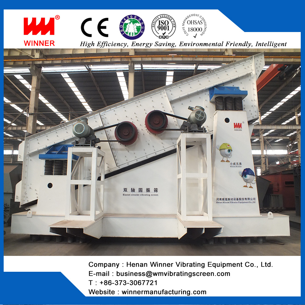 DY Large biaxial circular vibrating screen for mining