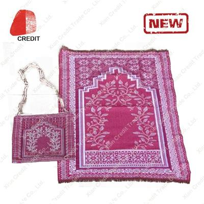 Customized Muslim Prayer Mat with Different Design for Prayer