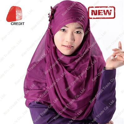 Customized Islamic Headscarf with Reasonable Price for Fashion Muslim Hijab