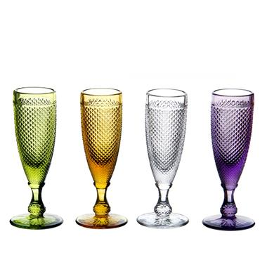 Colorful Clear Machine Made Hand Made Wine Glass Cups