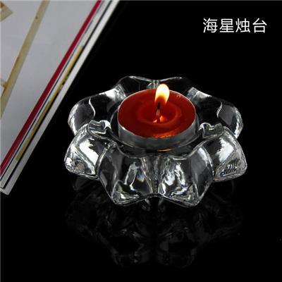 Machine Made High Quality Crystal Glass Candle Holder Candle Jar
