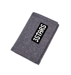 Durable Polyester High Quality Solid Color Wallet Card Holder Men's Gift