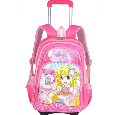Popular Cartoon Fashion Kids School Trolley Bags For Girls