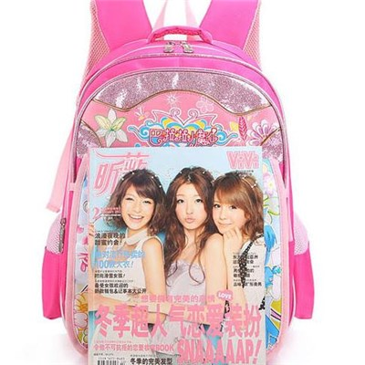 Girls Polyester Satchel Backpacks Canvas Schoolbag Cartoon Character Girl School Backpack