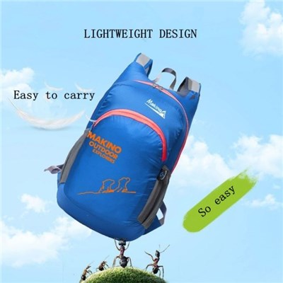 Fashion Outdoor Active Leisure Waterproof Foldable Nylon Sports Backpack