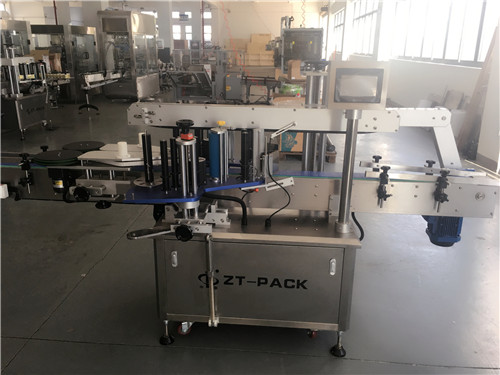 flat bottle double side self adhesive labeling machine