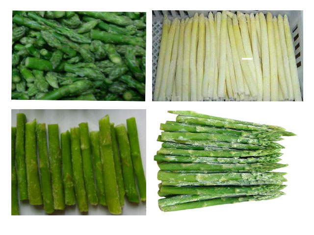 IQF/Frozen Chinese white/green asparagus tips/cut