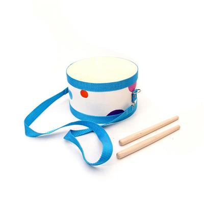 Custom Percussion Drums Kids Small Wooden Drum With Strap