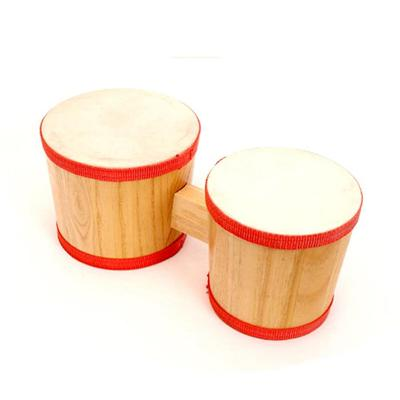 Wooden Musical Toys Kids Mini Bongo Drum