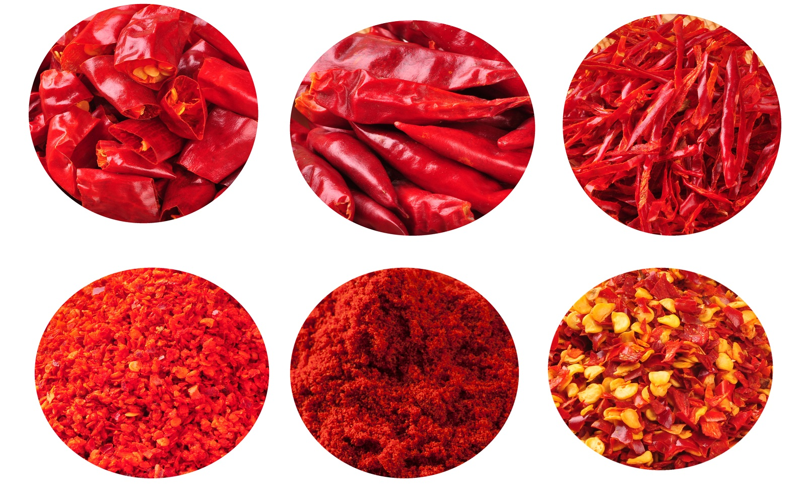 Dried red chili cut/sweet paprika/ pepper powder/ ground/flake