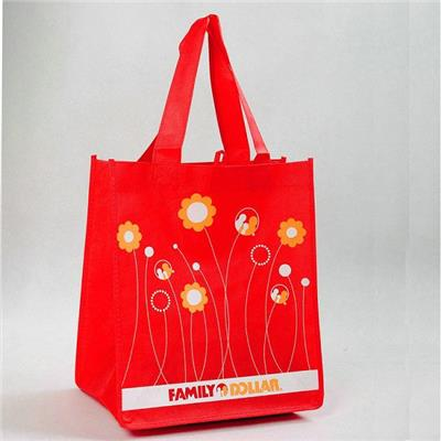 Eco-friendly Standard Size Non Woven Grocery Tote Bag With Silkscreen Or Heat Transfer