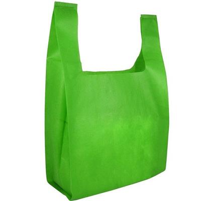 Eco-friendly Supermarket Ultrasonic Heat Non Woven T-shirt Bag Without Bottom For Sundries