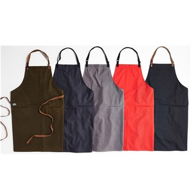 Promotional Eco Friendly Waterproof Polyester Apron For Chef Butcher Barber And Kitchen Cooking