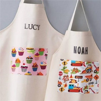 100% Cotton Canvas Apron With Pocket For Kids And Adults