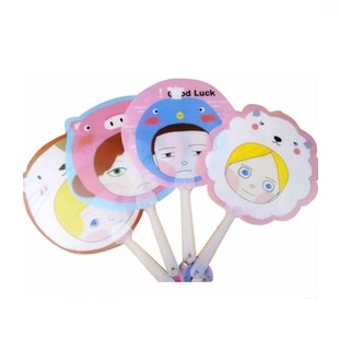 Promotional Summer Cartoon And Lovely Printing Plastic Hand Fan For Kids