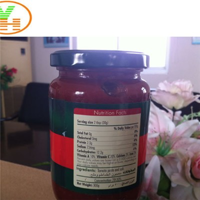 Wholesale China Factory Tomato Paste 70g Tomato Sauce in Glass Jar