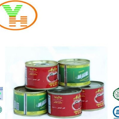 2Years Shelf Life Red Colour High Quality Canned Tomato Paste