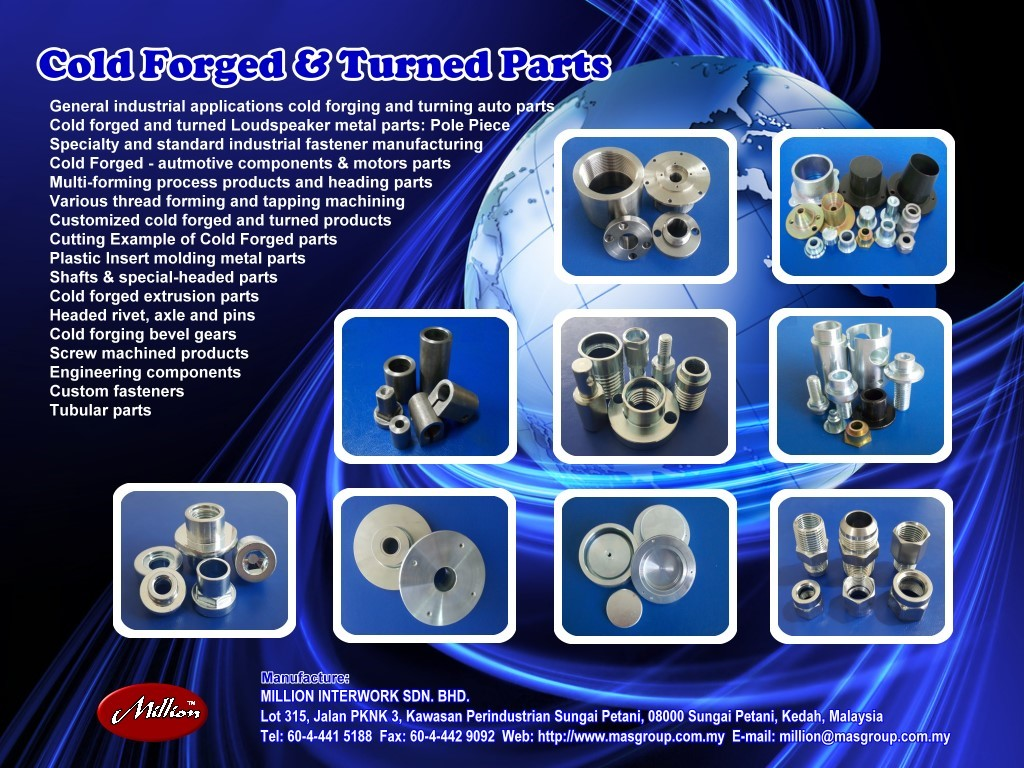 Custom Forging Parts : Custom made cold forged auto parts automobiles