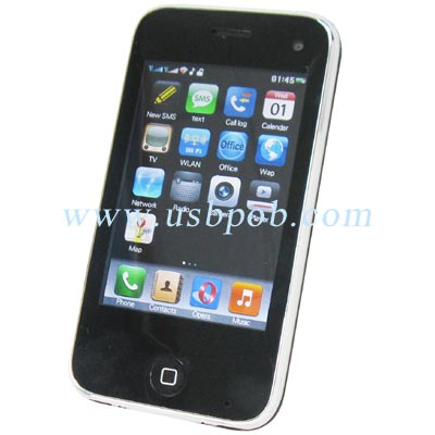 3.4 inch Quad Band Dual Card Dual Standby iPhone Style TV Phone i93GS with WIFI