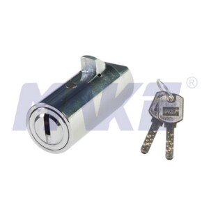 Cylinder Lock for Vending Machine, Zinc Alloy, Shiny Chrome