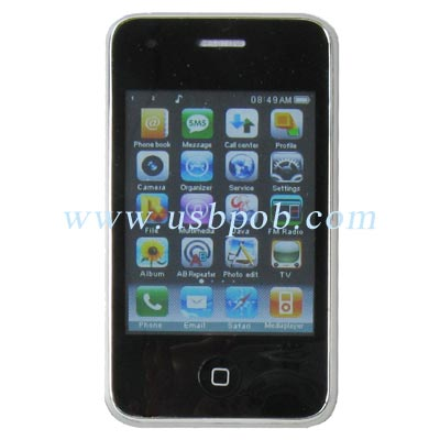2.8 inch Touch Screen Quad Band Dual Card Dual Standby TV iPhone Style Mobile Phone JC35 with WiFi Function