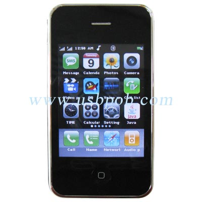 3.2 Quad Band Dual SIM Card Dual Standby iPhone Style Mobile Phone i9+++