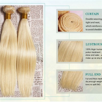 Wholesale stiahght Blonde Brazilian Hair