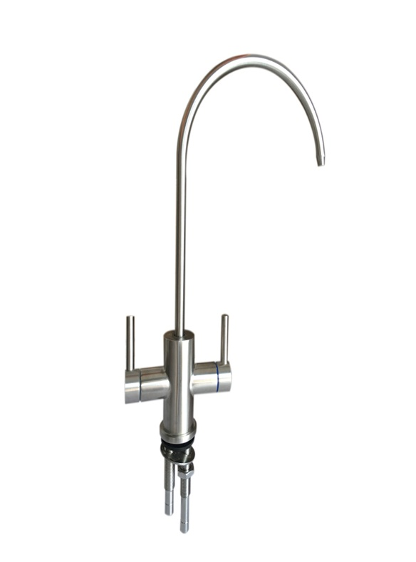 Stainless steel 2 handle way water filter  purifier faucet kitchen mixer taps