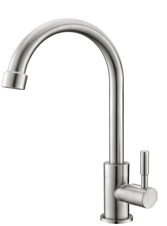 Stainless steel lead-free single cold sink kitchen faucet taps cold water only
