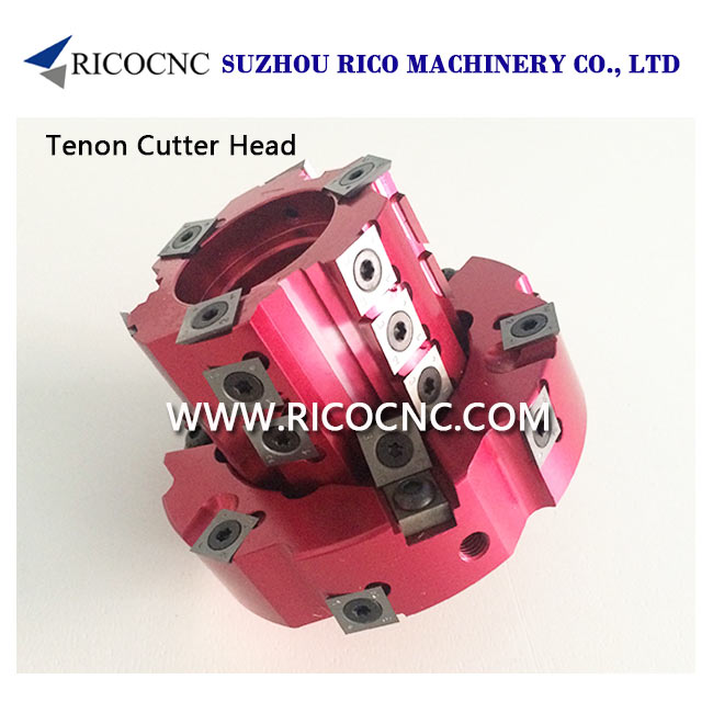 Adjustable CNC Tenoning Cutterhead Tenon Cutter Heads with Indexable Inserts