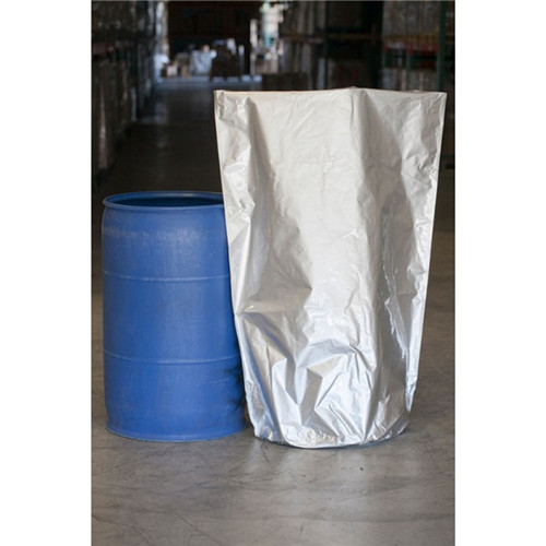 Round bottom vapor barrier drum and pail foil liners