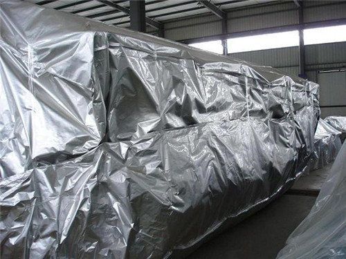 Large machinery high barrier foil cover
