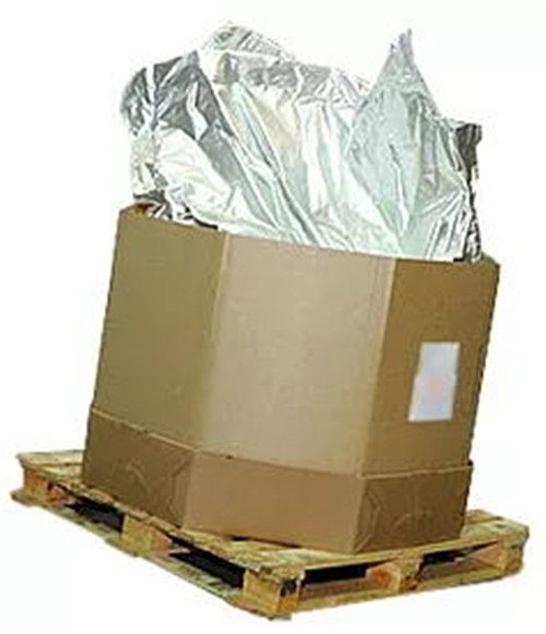 Octabin and bulk corrugated boxes foil liner