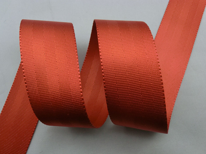 High strength polyester seatbelt webbing tape