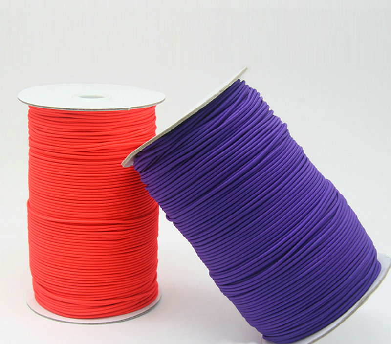 Wholesale stock colored 3mm elastic cord