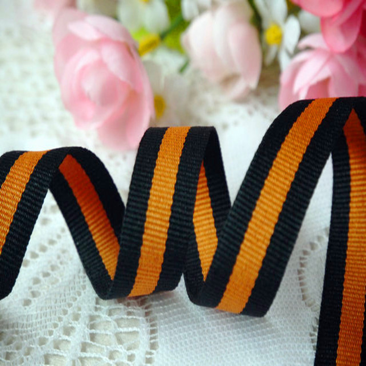 Factory supply eco-friendly striped polyester webbing