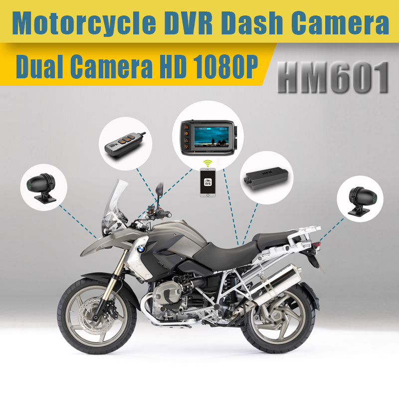 HFK Universal model fhd 1080p motorcycle dvr dual cameras motorcycle video recorder