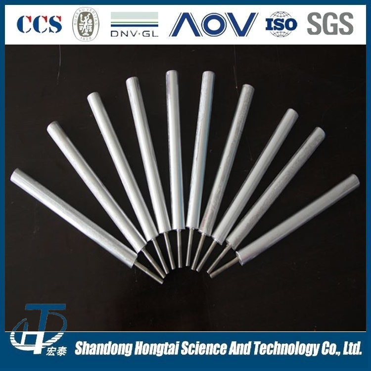 powered magnesium alloy sacrificial anode rod