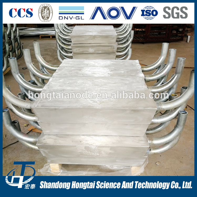 DNV/ISO/ASTM Certificated aluminum alloy sacrificial anode