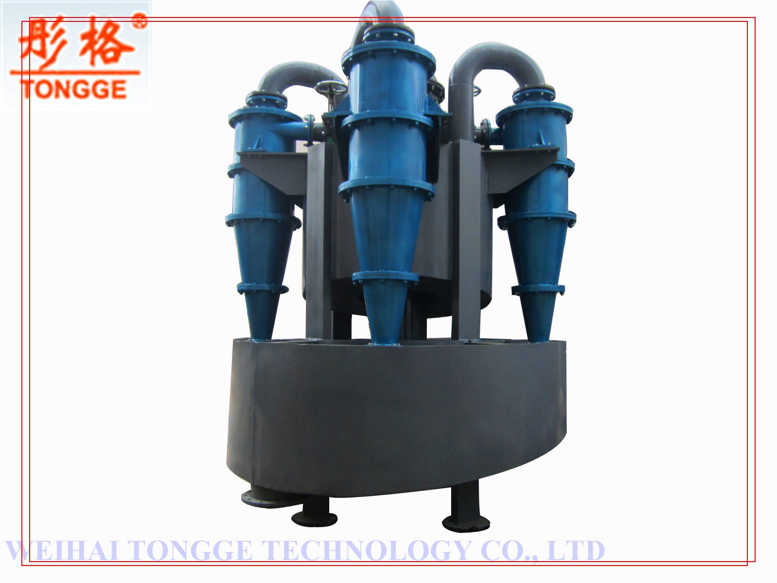 Hydrocyclone separator for gold ore process