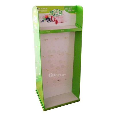 Accessories Cardboard Hook Display / Paper Display with Peg Hooks for Promotion