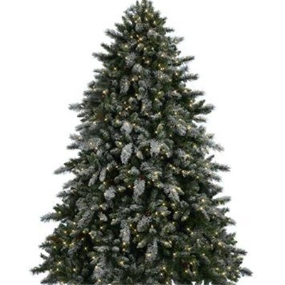 Flocked Mixed PVC Pine Tree