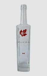 Super Flint Spirits Glass Bottle with Customer's LOGO and Decal
