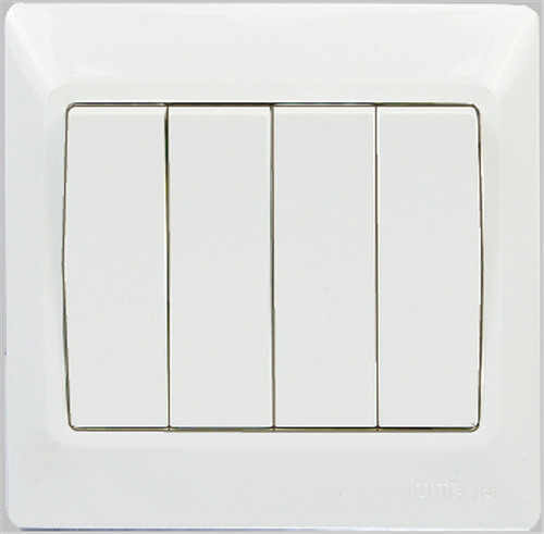British flush type 4 gang 1 way switch with big rocker