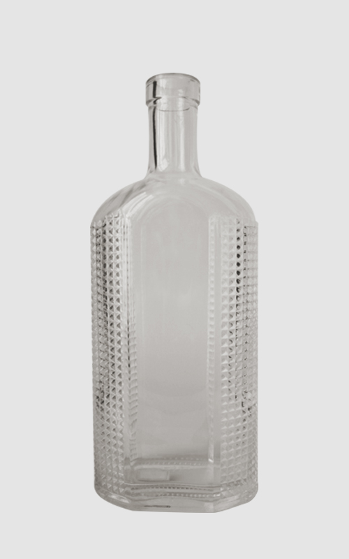 700ML Clear glass bottle with cork finish