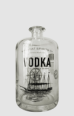 clear glass bottle for vodka with decal
