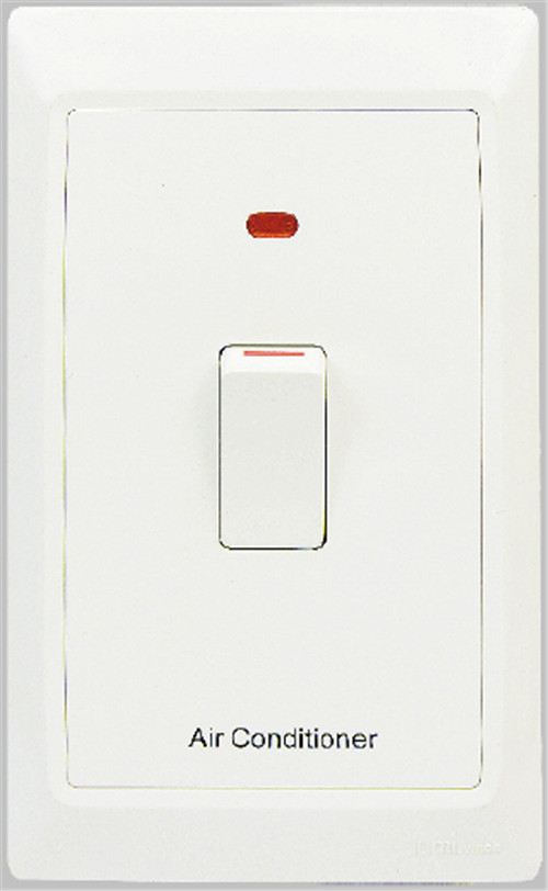 45A double pole switch with neon