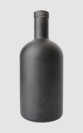 750ML glass bottle with black coating