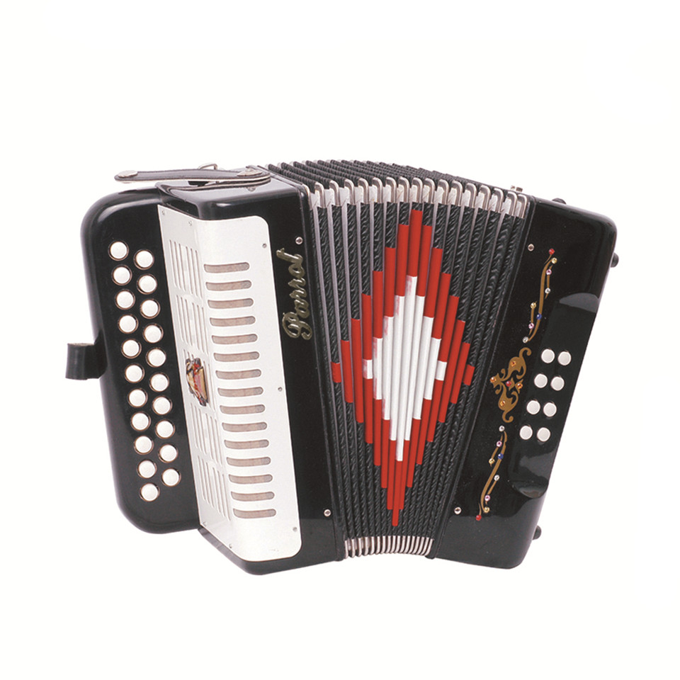 Parrot 21 Button 8 Bass Diatonic Accordion With Case And Straps