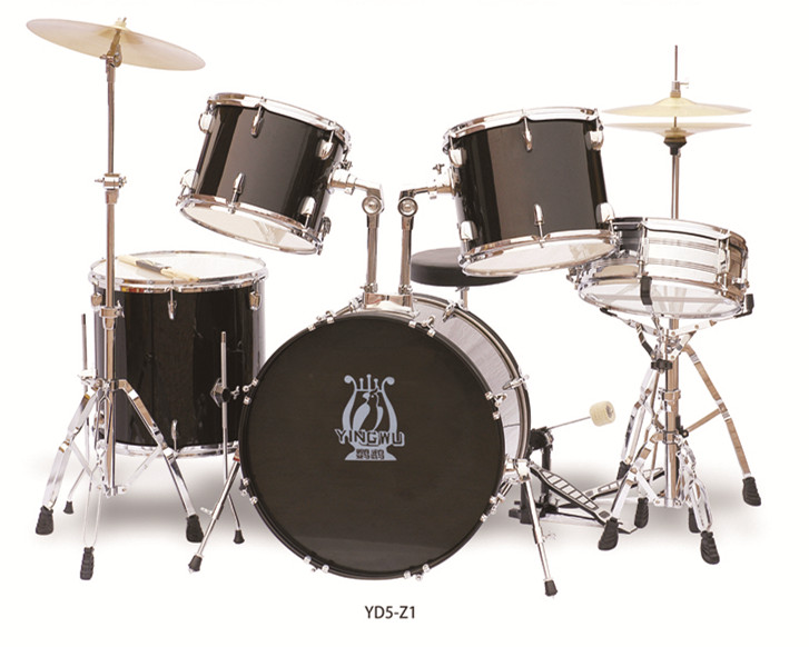 Full Size Complete Adult 5 Piece Drum Set